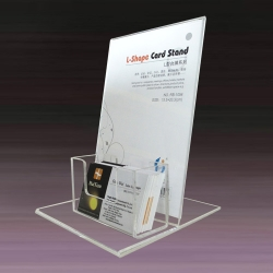 Flyer Holder with Business Card Box