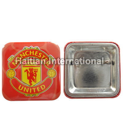 Square Tin Badge
